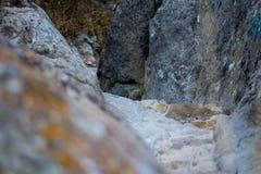 Sobras do forte de Afyonkarahisar em Turquia Foto de Stock Royalty Free