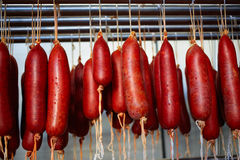Sobrasada of Mallorca typical sausage in Balearic. Islands of Spain Stock Photography