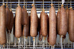 Sobrasada white of Mallorca sausage in Balearic Royalty Free Stock Photo