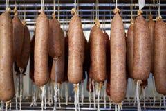 Sobrasada white of Mallorca sausage in Balearic Royalty Free Stock Photo