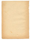 Sobre 50 anos de página de papel velha fotografia de stock royalty free