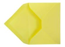Sobre amarillo. Fotos de archivo libres de regalías
