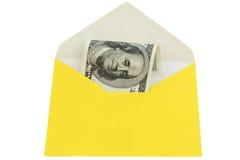 Sobre amarillo Foto de archivo