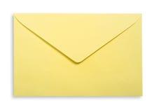 Sobre amarillo. Foto de archivo libre de regalías