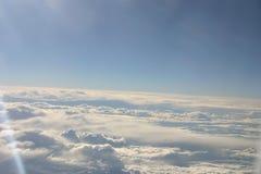 Sobre as nuvens Foto de Stock