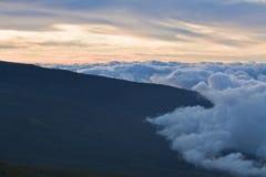 Sobre as nuvens Imagem de Stock