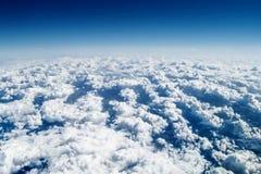 Sobre as nuvens, alta altitude Fotografia de Stock