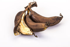 Sobre bananas (podres) maduras Foto de Stock Royalty Free