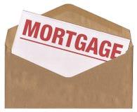 Sobre - carta del aviso de la hipoteca Imágenes de archivo libres de regalías
