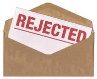 Sobre - carta rechazada del aviso Foto de archivo libre de regalías