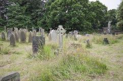 Sobre cementerio crecido Fotos de archivo