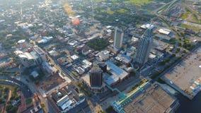 Sobre centro de la ciudad imagen de archivo