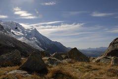 Sobre Chamonix Imagen de archivo libre de regalías