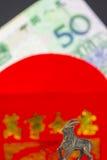 Sobre chino Lai Si del Año Nuevo con el dinero Foto de archivo