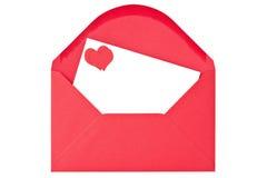 Sobre con la carta de amor Fotografía de archivo libre de regalías