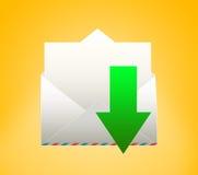 Sobre con la letra Transferencia directa Imágenes de archivo libres de regalías