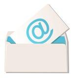 Sobre con símbolo del email Imagen de archivo libre de regalías