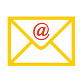 Sobre con símbolo del email Foto de archivo