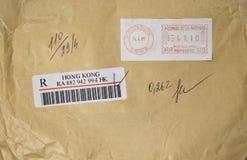 Sobre de Hong-Kong Foto de archivo libre de regalías