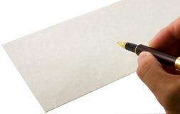 Sobre de la escritura Imágenes de archivo libres de regalías