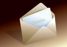 Sobre de la invitación Imágenes de archivo libres de regalías