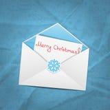 Sobre de la Navidad Fotografía de archivo libre de regalías