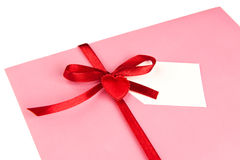 Sobre de la tarjeta del día de San Valentín Imagen de archivo