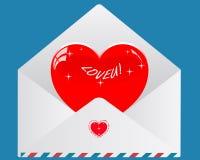 Sobre de la tarjeta del día de San Valentín Foto de archivo