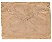 Sobre de la vendimia para la carta Foto de archivo