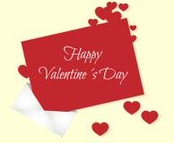 Sobre de las tarjetas del día de San Valentín Imagen de archivo libre de regalías