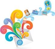 Sobre del comercio electrónico ilustración del vector