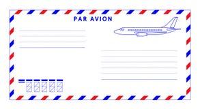 sobre del correo aéreo ilustración del vector