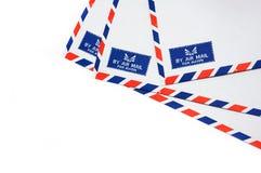 Sobre del correo aéreo imágenes de archivo libres de regalías