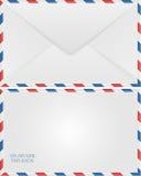 Sobre del correo aéreo Fotos de archivo libres de regalías