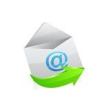 Sobre del correo electrónico Imágenes de archivo libres de regalías