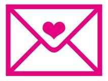 Sobre del día de tarjeta del día de San Valentín Imagen de archivo