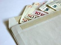 Sobre del dinero Foto de archivo libre de regalías