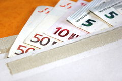 Sobre del dinero Fotografía de archivo