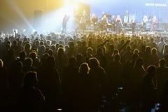 Sobre dez milhares os povos atendem concerto do aniversário do ano de Viktor Drobysh ao 50th em Barclay Center Imagem de Stock Royalty Free