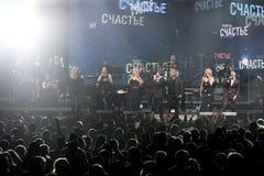 Sobre dez milhares os povos atendem concerto do aniversário do ano de Viktor Drobysh ao 50th em Barclay Center Fotos de Stock Royalty Free