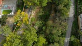 Sobre di VÃdeo: Vista di Navaja-SeAerial sul viaggio di un paesaggio in autunno con il fiume e gli alberi gialli, arancio e verdi video d archivio