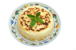 Sobre el arroz cocinado Foto de archivo