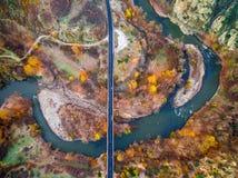 Sobre el río en Bulgaria Imagen de archivo