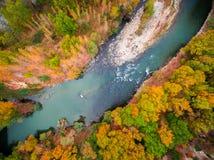 Sobre el río en Bulgaria Foto de archivo