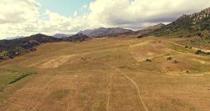 Sobre el valle en España almacen de metraje de vídeo