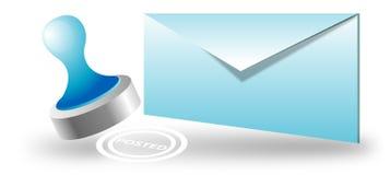 Sobre, email fijado Imágenes de archivo libres de regalías