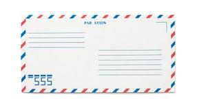 Sobre en blanco del correo aéreo aislado Foto de archivo