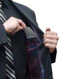 Sobre en un bolsillo de la chaqueta Imagen de archivo libre de regalías