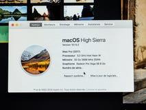 Sobre esta informação do Mac de Apple poderoso novo iMac pro wo Fotos de Stock