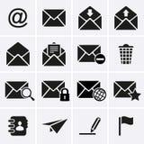 Sobre, iconos del email Foto de archivo libre de regalías
